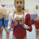 Rachel with silver medal
