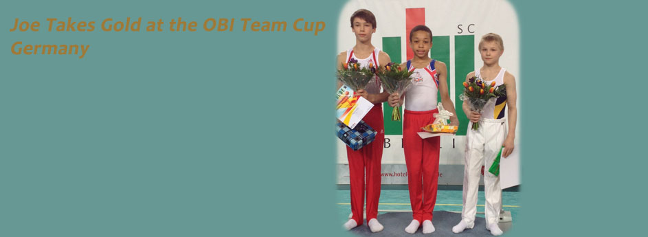 Joe Takes Gold in Germany at OBI Team Cup