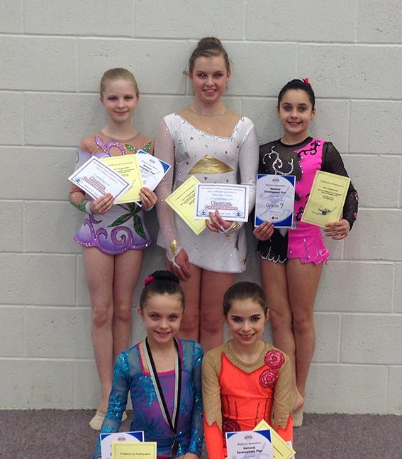 Espoir qualifiers: back row - Kaela, Natasha, Maria. Front row - Emily & Sopie