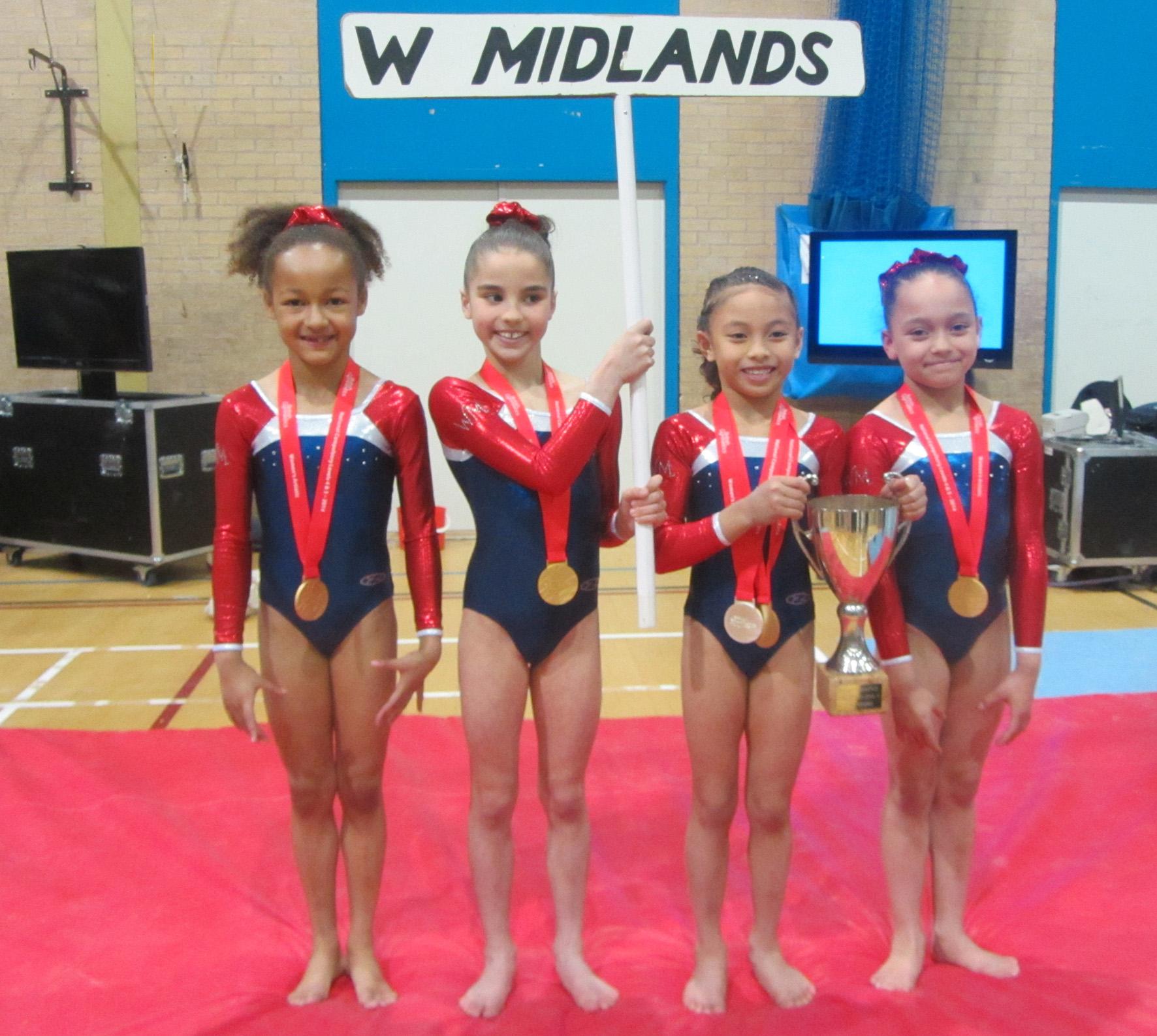 Miriam, Amelia, Sophia C, Sophia M - West Midlands L4 Team