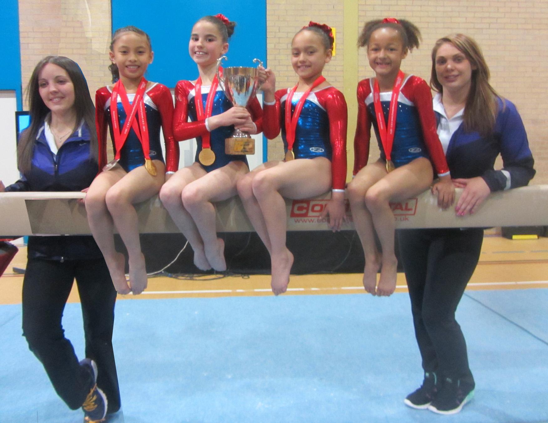 Krystie Newton, Coach, Sophia C, Amelia, Sophia M, Miriam and Jody Kime, Coach