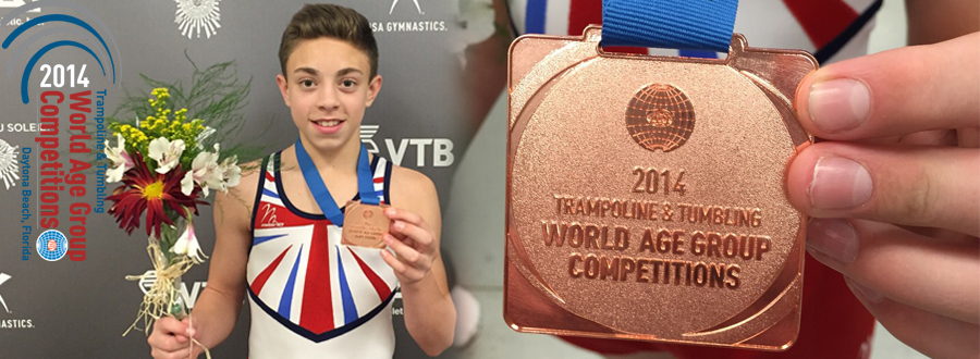 Kallum Medals at World Tumbling Championships 2014