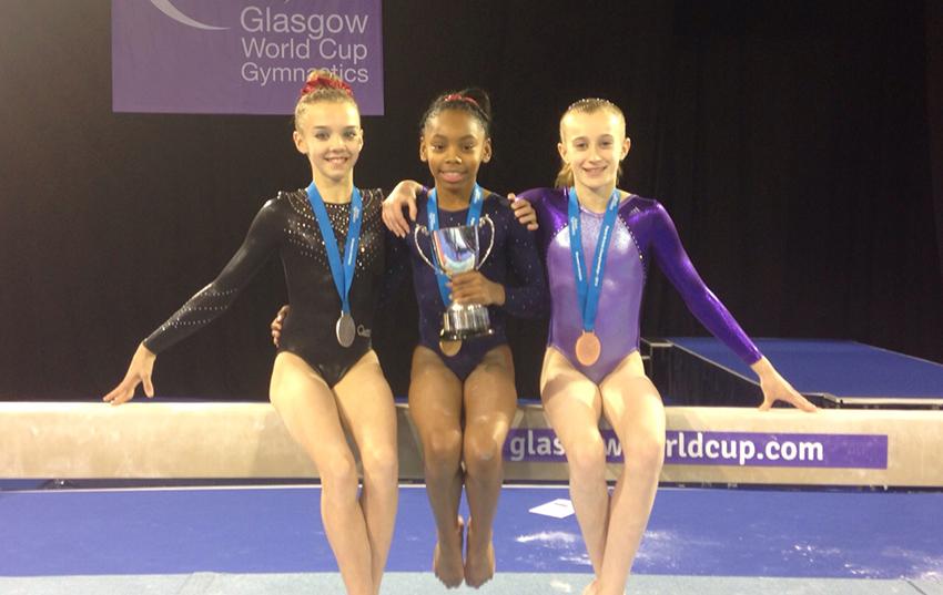 Medalists Megan, Taeja and Hannah