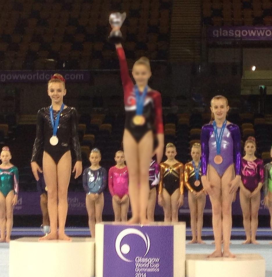 Hannah takes Bronze and Megan Silver on Individual apparatus beam