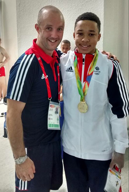 Coach, Lee Woolls & Gymnast: Joe Fraser