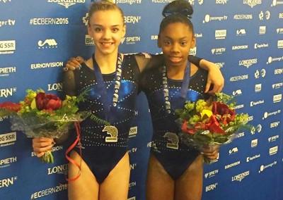 Megan & Taeja - Junior European Team Silver Medallists 2016