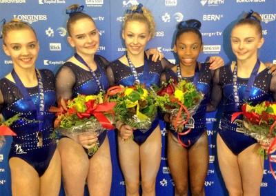 British Silver Medal Winning Womens European Team 2016