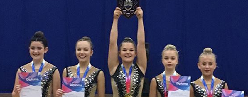 Medals for Rhythmic Girls at National Group League Championships 2018